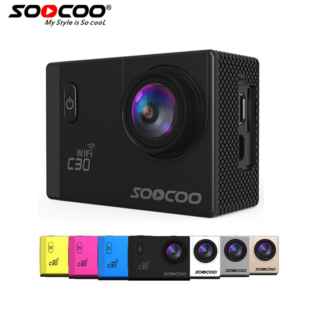 SOOCOO C30/C30R 4K Sports Camera  1080P/60FPS HD Wifi Gyro NOVATEK96660 30M Waterproof Action Camera soocoo c30 sports action camera wifi 4k gyro 2 0 lcd ntk96660 30m waterproof adjustable viewing angles