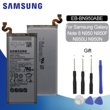 Original Battery For SAMSUNG N950 EB-BN950ABE 3300mAh Samsung Galaxy Note8 N950F N950U N950A N950N Replacement Phone
