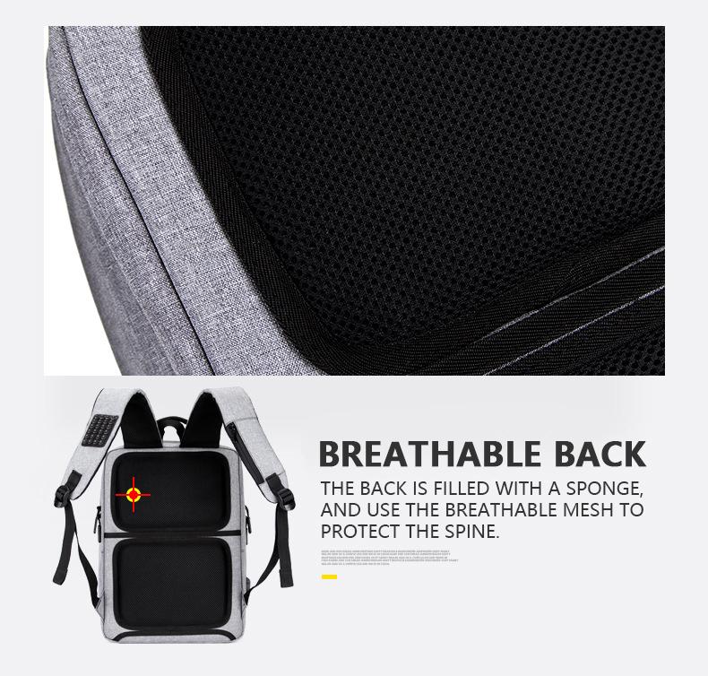 HTB1xq2tasrrK1Rjy1zeq6xalFXah - Mens Casual USB Charging Work Backpack Large Space Short Trip Male Waterproof