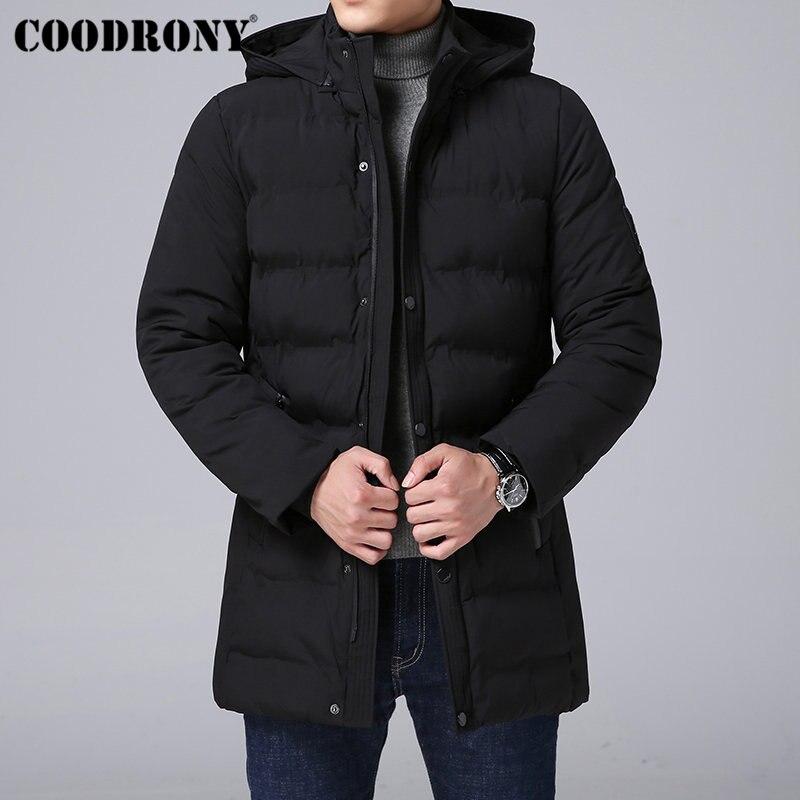 Marque gris Capuchon Mode Parka D hiver Veste Hommes vert À Chaud Épais  2018 Coodrony C012 Top Nouvelle Manteau Qualité Vêtements ... 52f31f912d56