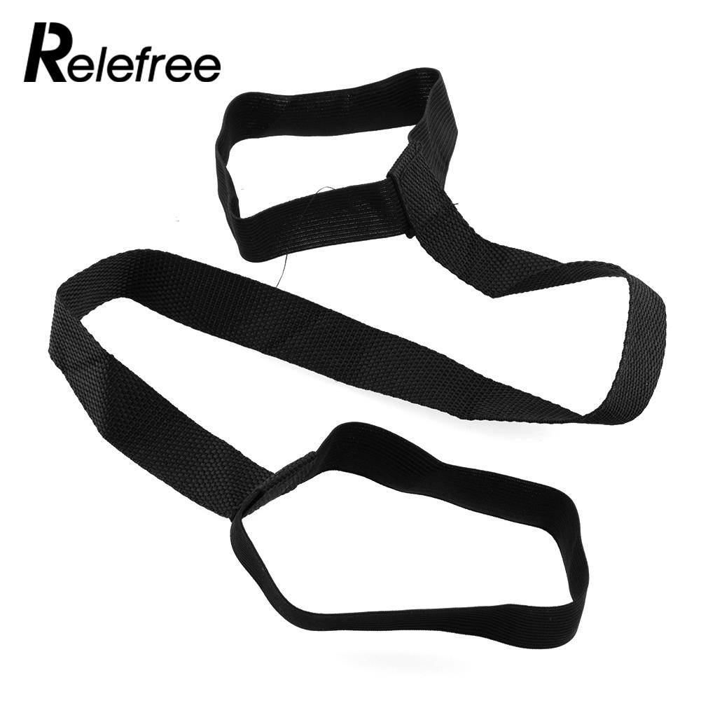 Relefree Yoga Pilates Tapis Pad Exercice En Boucle Sling Harnais de Transport  Transporteur Sangle Hot New Universal Durable Noir Haute Qualité 18b575250b4