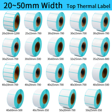 купить Thermal Label barcode Sticker, 40mm Core, 1 Roll , Width 20mm ~50mm, Top Thermal Paper Adhesive Stickers Zebra Godex Compatible дешево