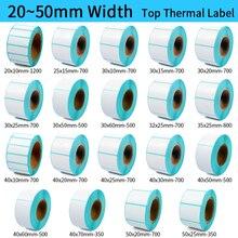 купить Thermal Label barcode Sticker, 40mm Core, 1 Roll , Width 20mm ~50mm, Top Thermal Paper Adhesive Stickers Zebra Godex Compatible онлайн