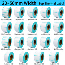 Thermal Label Barcode Stiker 40 Mm Core 1 Roll, Lebar 20 Mm ~ 50 Mm, atas Kertas Perekat Stiker ZEBRA Godex Kompatibel(China)