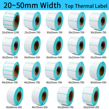 Thermal Label barcode Sticker, 40mm Core, 1 Roll , Width 20mm ~50mm, Top Thermal Paper Adhesive Stickers Zebra Godex Compatible phd20 2278 01 thermal printhead for data ma o neil i 4212e i 4212 i4212 mark ii barcode printers 203 dpi new compatible