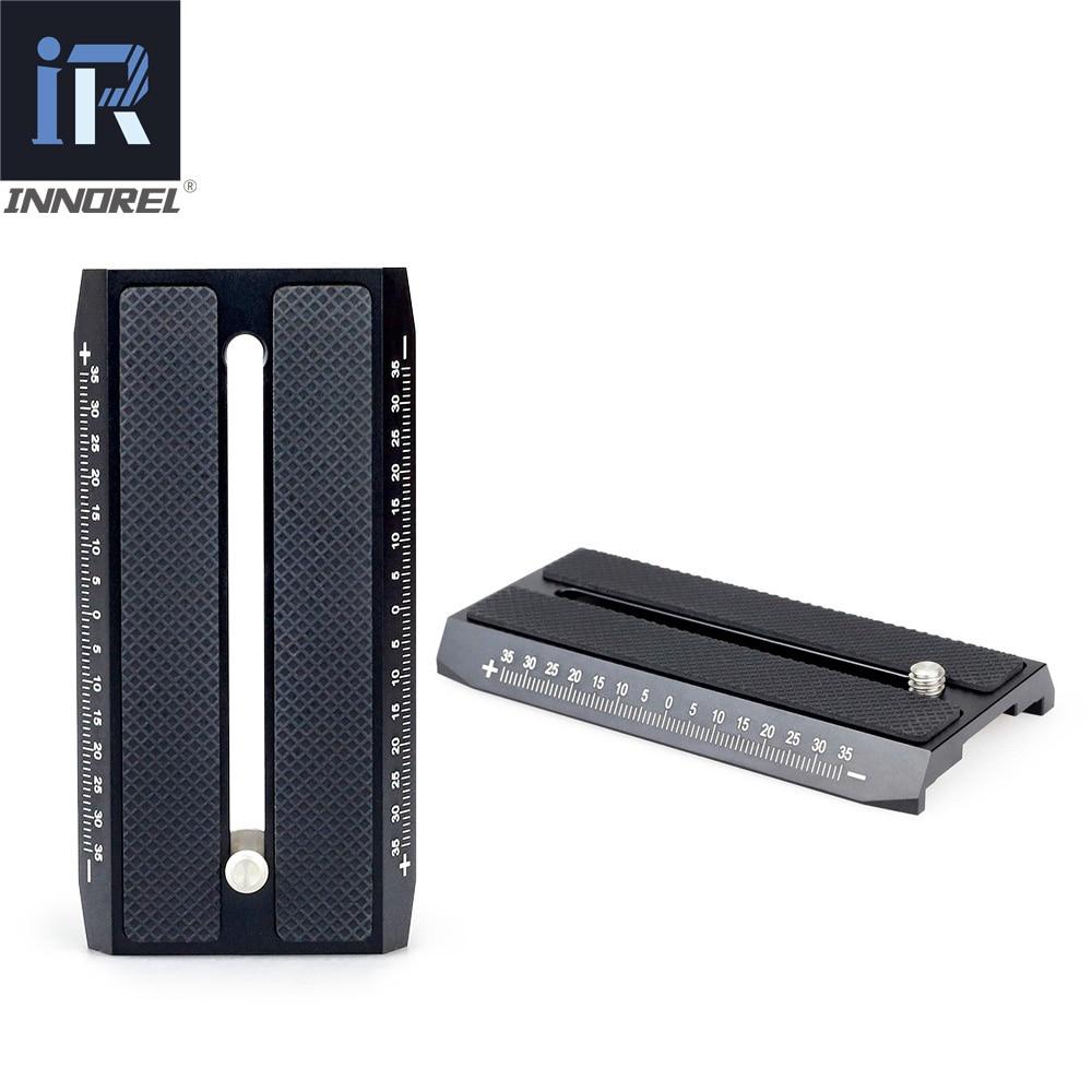 INNOREL QV100 Quick Release Plate For Video Tripod Monopod Compatible With Manfrotto 501HDV 503HDV 701HDV MH055M0-Q5 501PL Etc