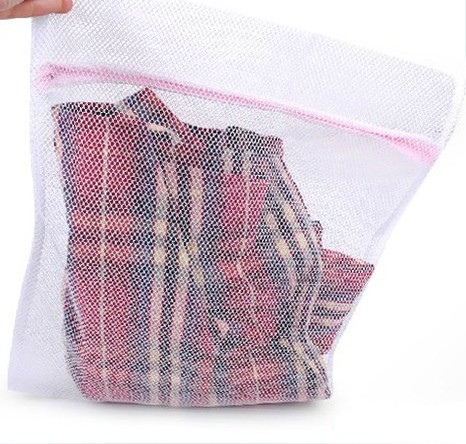White Washing Aid Laundry Saver Care Wash Bag Zipper Net Mesh Clothes Cleaner Basket Storage