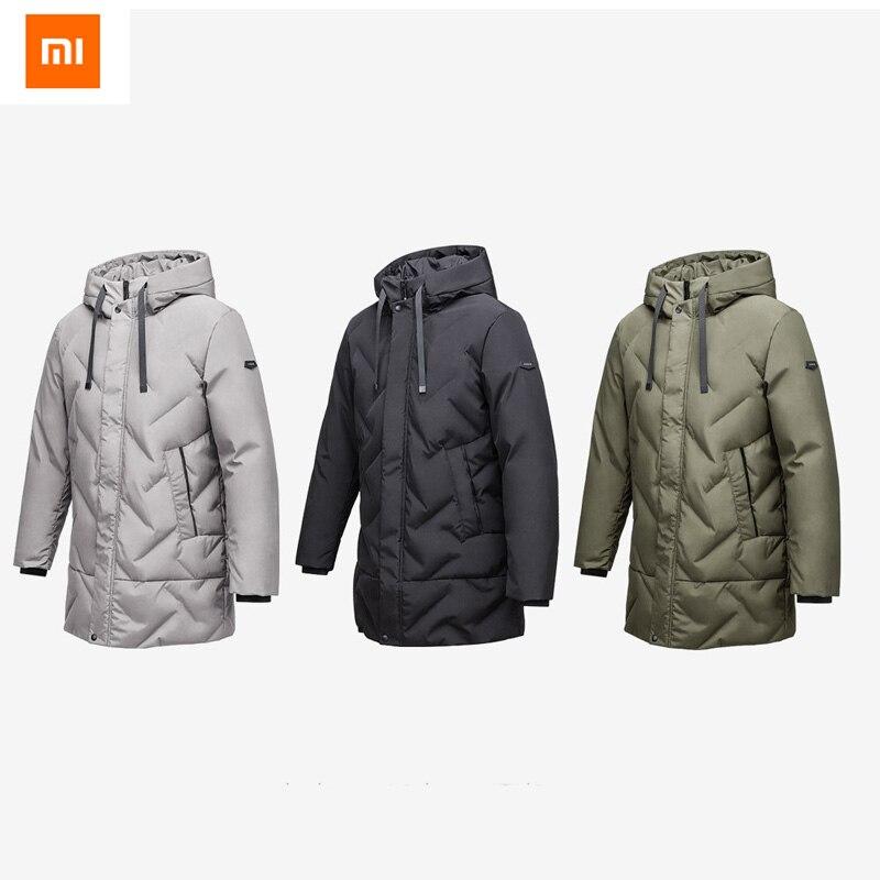 D'origine Xiaomi 90 Points Manteau D'hiver Sans Soudure Stéréo De Remplissage Vers Le Bas Longue Section Veste Pour Homme