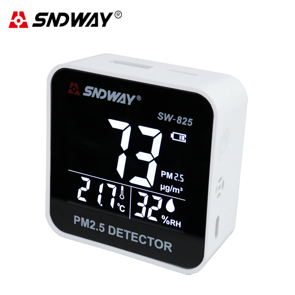 SNDWAY Digital Air Quality Monitor PM2.5 Detector Meter tester Gas monitor/Gas analyzer/Temperature humidity meter hotal home