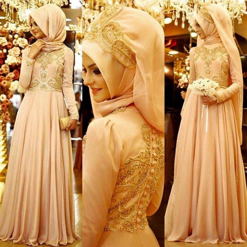 2016 Muslim font b Evening b font font b Dresses b font Custom Chiffon Arabic Hijab
