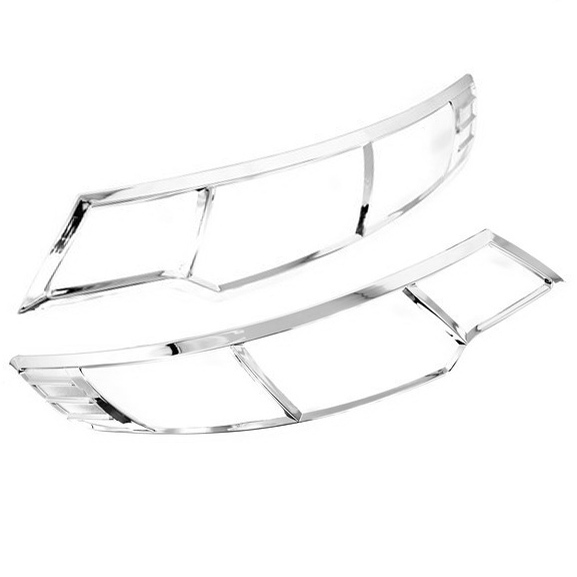 Chrome Styling Front Head Light Cover Trim for KIA Forte