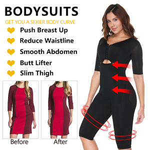 Image 4 - Plus Size Fat Burning Full Body Shaper Slimming Bodysuits Postpartum Recovery Waist Trainer Butt Lifter Weight Loss Shapewear