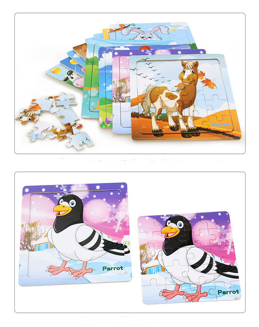 Kid's Wooden Small Pieces Puzzles