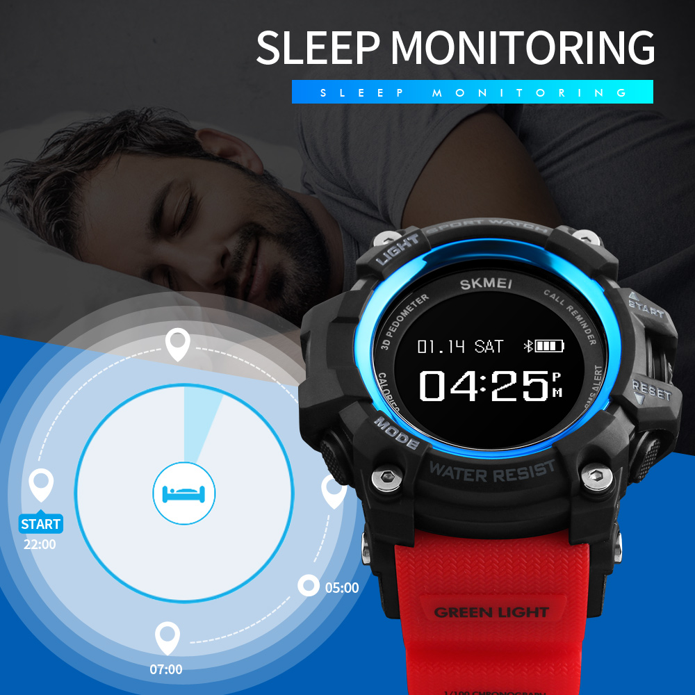 Top Luxury Brand <font><b>SKMEI</b></font> Trendy Smart watch Men Pedometer Heart Rate Monitor Bluetooth Digital Sports Watches Men waterproof clock image