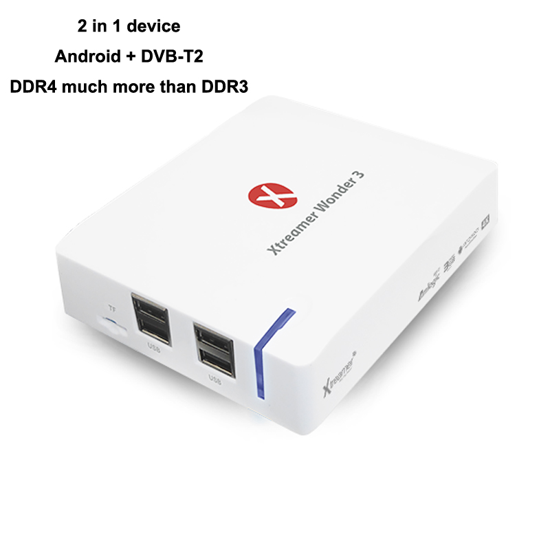 Xtreamer Wonder 3  4K 60P UHD 3GB DDR4 11ac VP9 Android Media Player S912 With DVB-T2, 2 In 1 Combo Device, Not Only Android