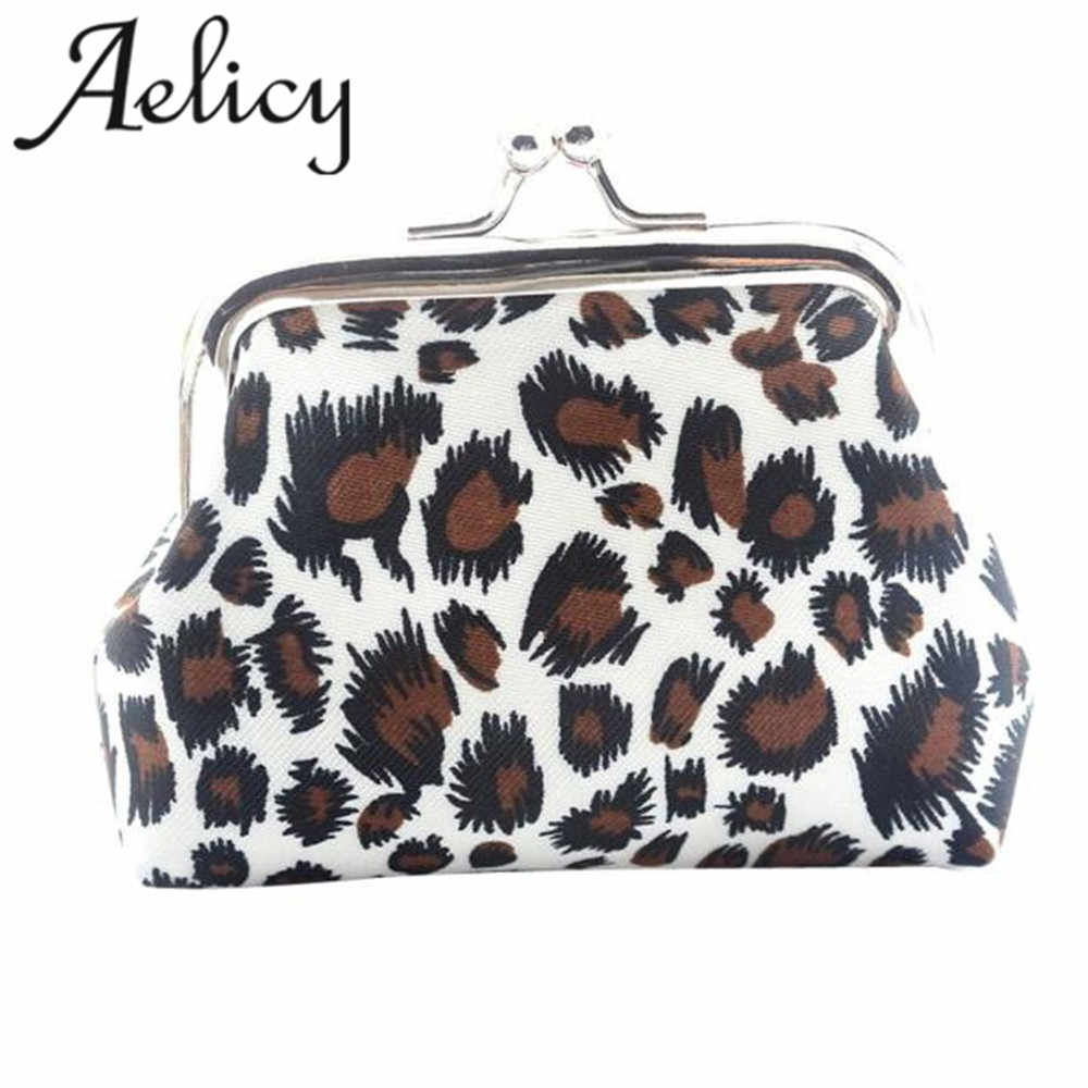 2018 bags for women 2018 New Style Girls Cute  Retro Leopard Canvas Wallet Card Holder Coin Purse Lady Hot! Clutch Handbag
