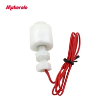 110v Mini Type Poly Propy Water Level Liquid Sensor 220V MK-PFS4008  water tank float switch pp plastic from makerele liquid level float switch sewage pool water level controller cable type liquid level switch
