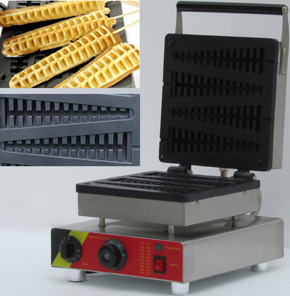 Stainless Steel Commercial Waffle On Stick Corn Waffle Maker_lolly Waffle Maker Machine  Fish Scale Waffle Maker