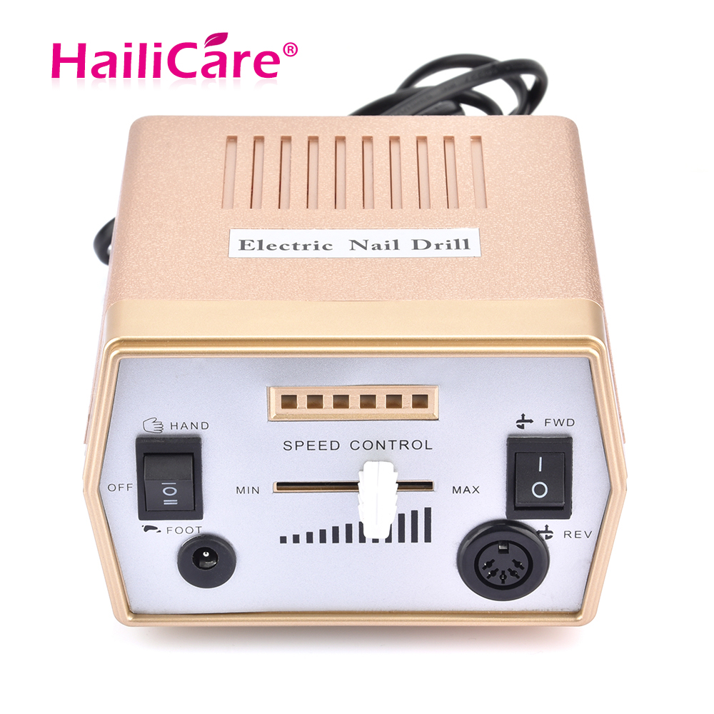 Hailicare 30000RPM Electric Nail Drill Machine Drills Accessory Speed Control Nail Art Tools Nail Drill File Pedicure Manicure
