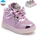 2017 new 1 to 5 years old fashion cartoon shoes baby girls light shoes kids sneakers children's boots high quality casual shoes
