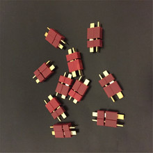10 Pairs Top Quality RC Lipo Battery Helicopter T Plug Male and Female Connectors T wires Cables Electric Bike Car Battery Deans(China)