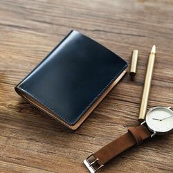 LANSPACE crup leder männer brieftaschen handmade geldbörse berühmte marke geldbörsen halter