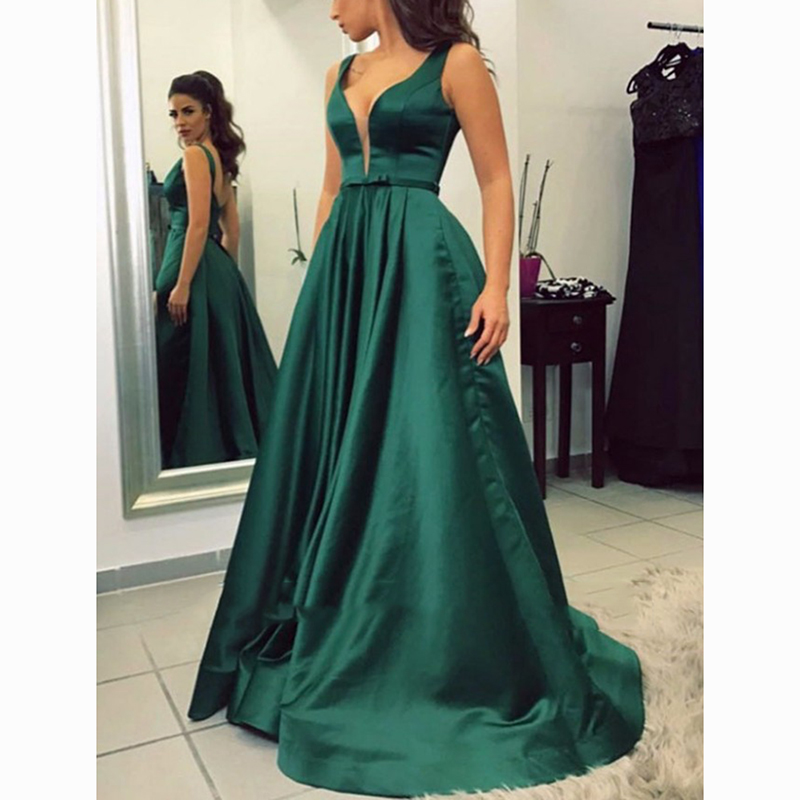 Trust LinDa Glamorous V-neck A-line Bridesmaid Dresses Women's Bridal Party Wear Dress Custom Made Prom Gowns 2018 Plus Size