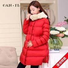 Maternity clothing maternity autumn and winter cotton-padded jacket female winter thickening wadded jacket outerwear medium-long