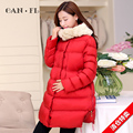Maternity clothing maternity autumn and winter cotton-padded jacket female winter thickening wadded jacket outerwear medium-long