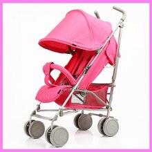 Folding Adjustable Infant Baby Umbrella Four Wheels Stroller Lightweight Travel System Child Buggy Pram Pushchair 0~3 Y