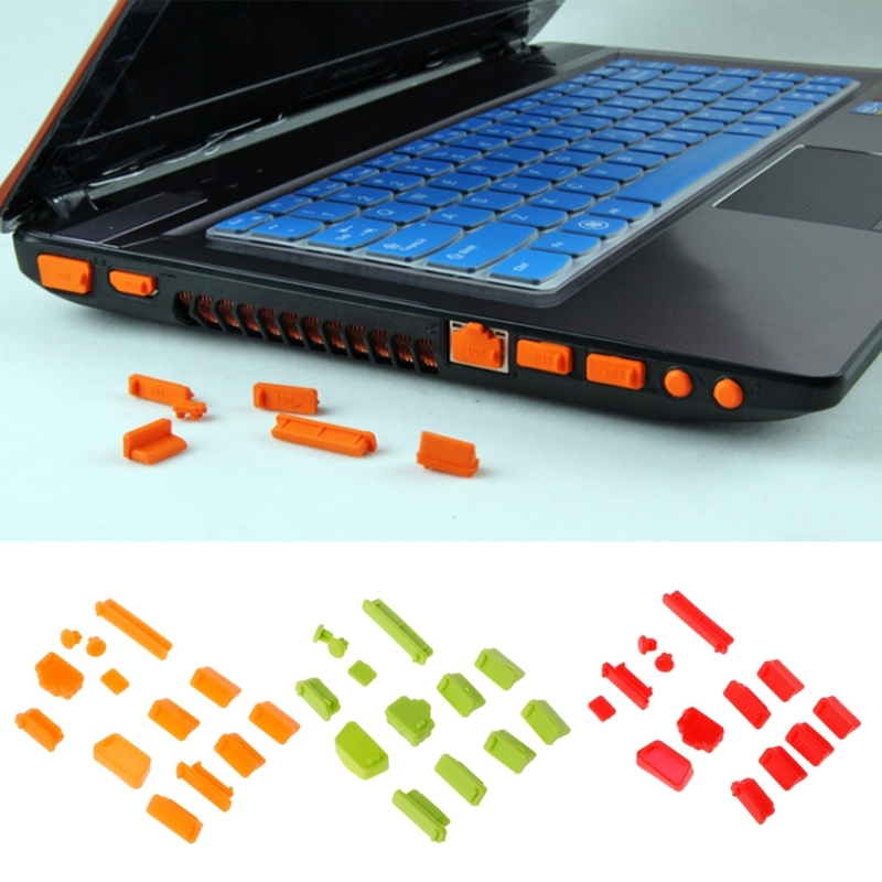 13pcs/Set Cover Colorful Silicone Laptop Anti Dust Plug Cover Stopper Universal Dustproof