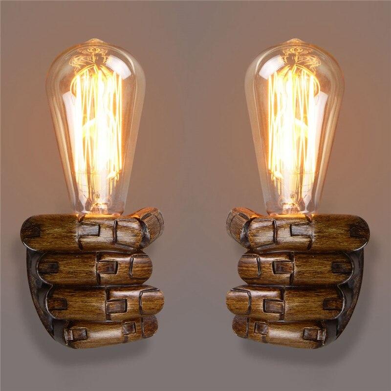 Più nuovo E27 Applique Da Parete Retrò Resina Vintage Edison ...