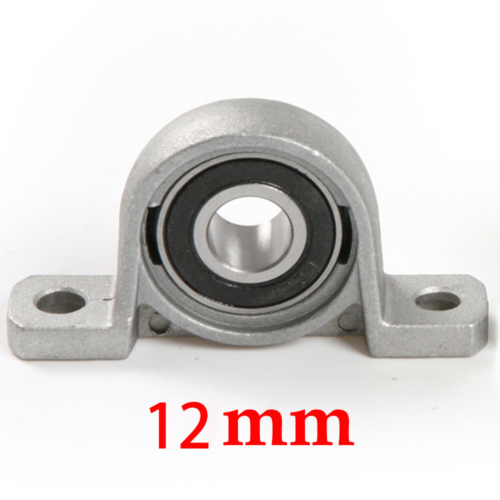 Zinc Alloy Ball Bearing Pillow Block Housing Mounted Support 12mm KP001 2pcs precision kp001 bearing shaft 12mm diameter zinc alloy pillow block mounted support ball bearings housing roller mayitr