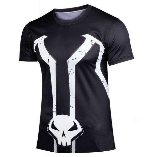 Hot sales 2015 New Marvel Comics Super Heroes Iron Man T-shirt Tony Stark High Quality Short-sleeve Costume T Shirt Cosplay XXXX