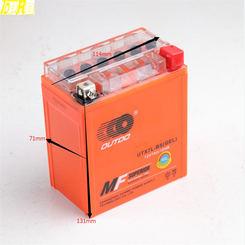New Gel Utx7l Bs Ytx7l Bs Battery For Kawasaki Ninja Sherpa Ex Kl