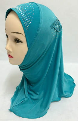 can choose colors Popular Al Amira hijabs muslim turban Pretty smart Children girl Appliques muslim flower