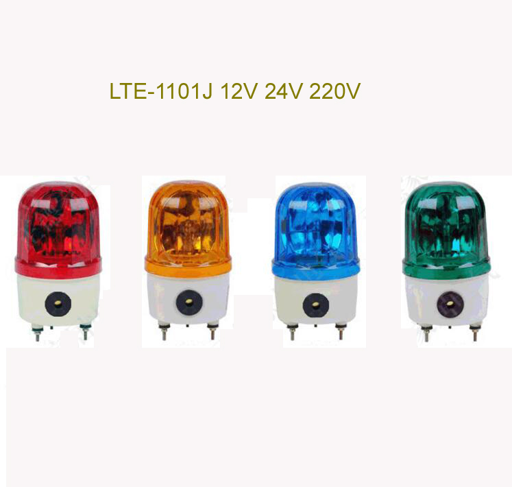 Industrial  AC220V DC12V DC24V  Red Yellow Blue Green LED Blinking Revolving Warning Light Signal Tower Lamp N-1101 lta 205j 2 dc12v 2 layer tower light signals bulb warning lamp alarm 90db red green u bottom