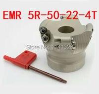 Ücretsiz Alışveriş EMR-5R-50-22-4 T Yüz parmak freze çakısı Endekslenebilir Düz Kaba Kesme  CNC freze kesicisi