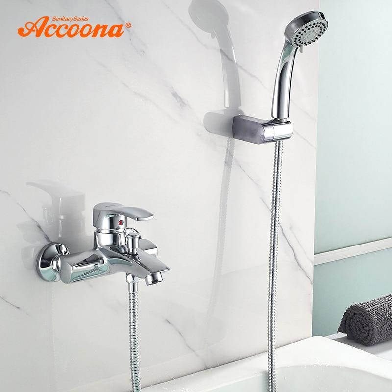 Accoona Bathtub Faucet Shower Mixer Faucet Single Handle Brass Cold and Hot Classic Bathroom Shower Bathtub Faucets A6003 цена