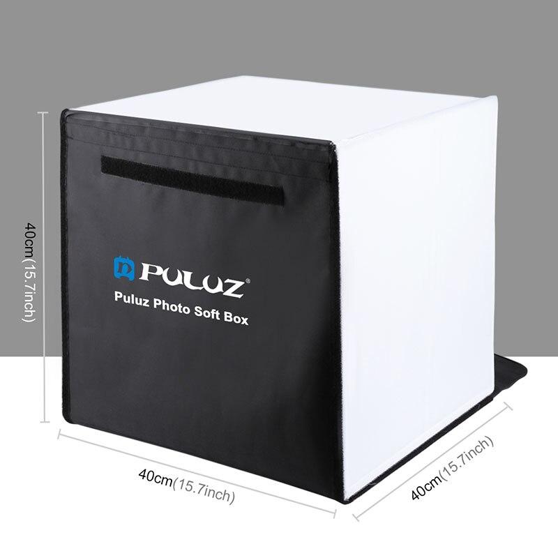 PULUZ 40x40 cm Photo Studio boîte pliable Photograghy Studio de prise de vue boîte souple Kits SL @ 88