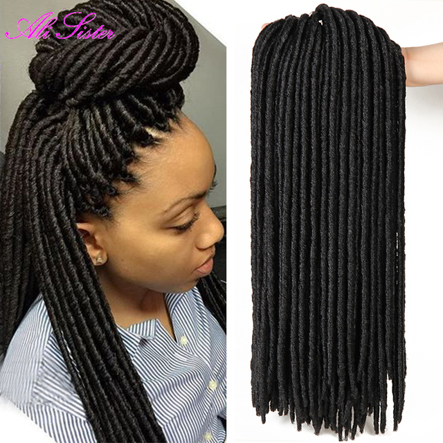 faux locs crochet black dreadlocks hair synthetic crochet braid hair