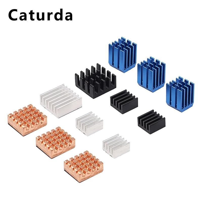 For Raspberry Pi 3 Heat Sink 12pcs Copper Aluminum Heatsink Radiator Cooler  Kit for Raspberry Pi 3 Model B+ 3B Plus 2B B+
