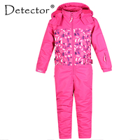 Detector Girl Ski Suit Waterproof Windproof Ski snowboard Bid Warm Thermal Kid Hooded One piece Little Children Clothing