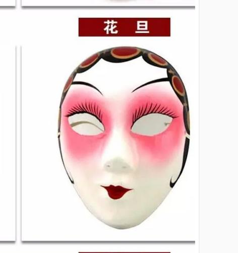 Chinese Style Hand Paint Beijing Opera Facial Makeup Huadan Traditional Mask Home Decoration