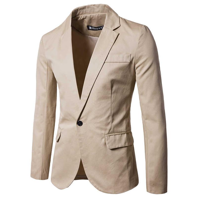 純粋なカラー長袖スーツジャケット SML XL 2XL 3XL 白青ワイン赤、黒カーキファッションビジネスカジュアル男のコート