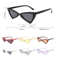 Sexy Cat Eye Sunglasses 2018 New Fashion Triangle Small Size Modern Retro Designer Women Sun Glasses Shades for Lady Women's Sunglasses