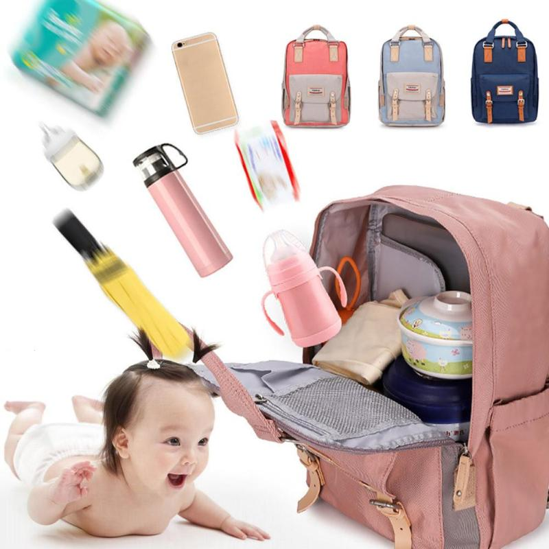 Large Diaper Bag Fashion Tote Baby Bags Organizer Nappy multi-function Bags Maternity waterproof Bag Backpack Mummy Handbag XV3 6 colors free shipping multi function inner container hobos nappy diaper baby diaper predelivery bags backpack hanging page 9