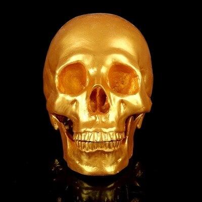 Resin skull ornaments Halloween gift Interior decoration skull model 19*16.5*11.5cm free shipping