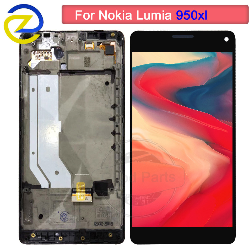 For Microsoft Nokia Lumia 950Xl LCD Display Touch Screen With Frame Digitizer Assembly 100% Tested For Nokia 950 XL RM-1116 LCDFor Microsoft Nokia Lumia 950Xl LCD Display Touch Screen With Frame Digitizer Assembly 100% Tested For Nokia 950 XL RM-1116 LCD