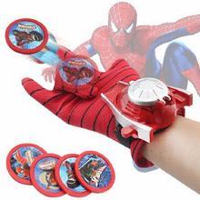 Детский карнавальный костюм Человека-паука, перчатка Человека-паука, Бэтмена, Супермена, пусковых устройств, игрушечный излучатель, подарок на Хэллоуин